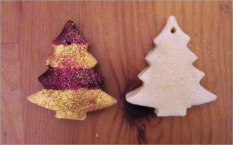 Bastelanleitungen zu Weihnachten Figuren aus Salzteig mit Farbe dekorieren
