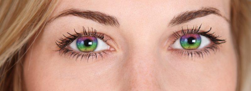 Farbige Kontaktlinsen - kombinieren Sie die Farben in 3 Tonen