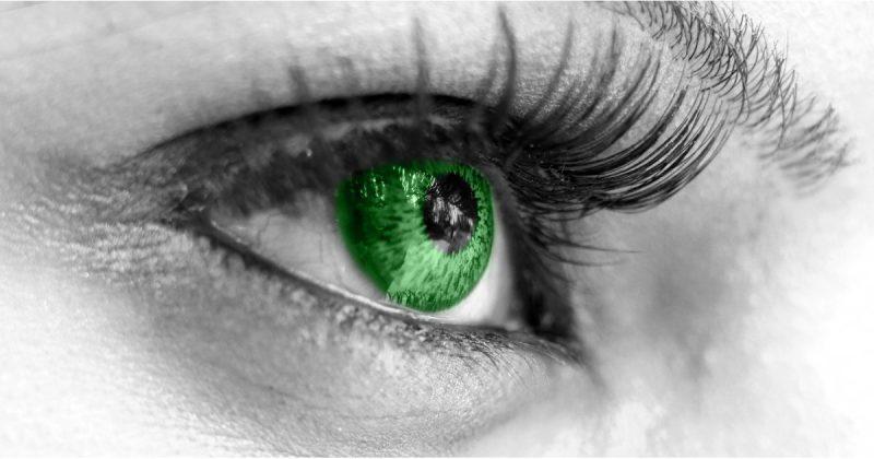 Farbige Kontaktlinsen grün