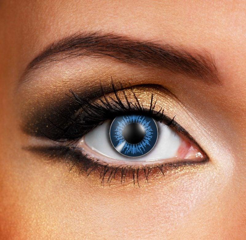 Farbige Kontaktlinsen ausgefallene Augen