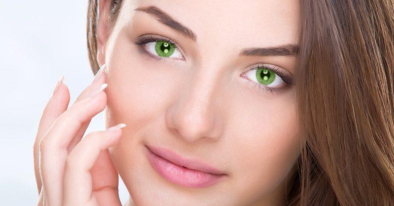 Farbige Kontaktlinsen grüne Augen