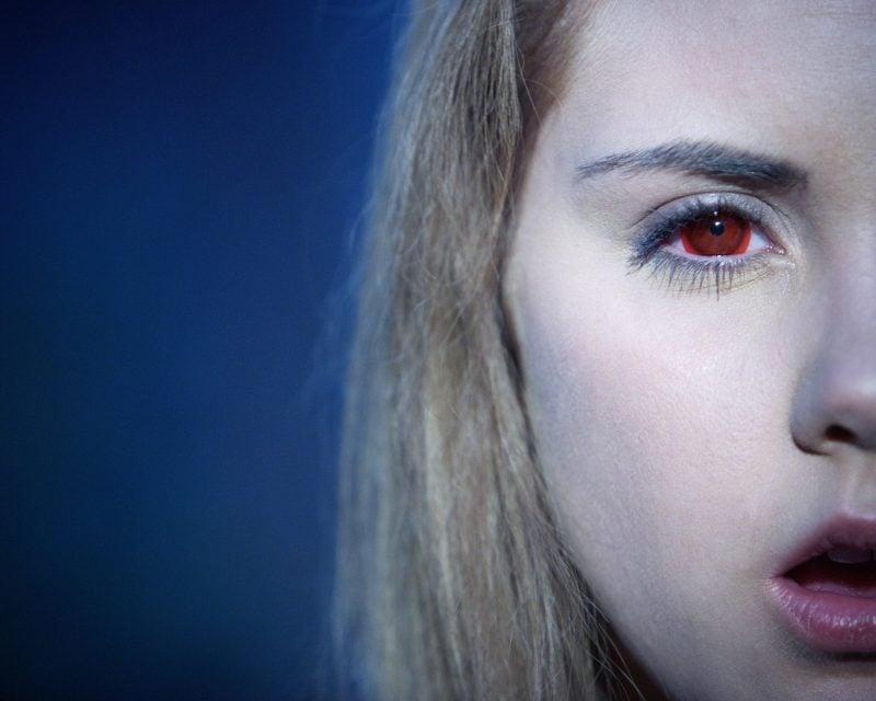 Farbige Kontaktlinsen bezaubernde Augen auf Party