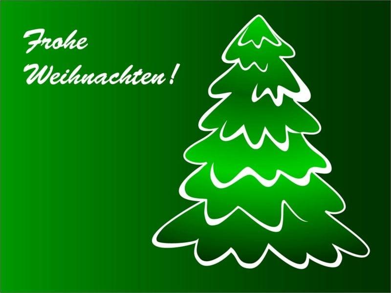 frohe Weihnachten auf verschiedenen Sprachen Tannenbaum