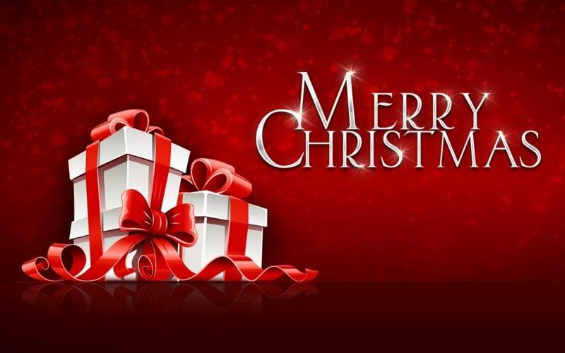 frohe Weihnachten auf verschiedenen Sprachen Englisch