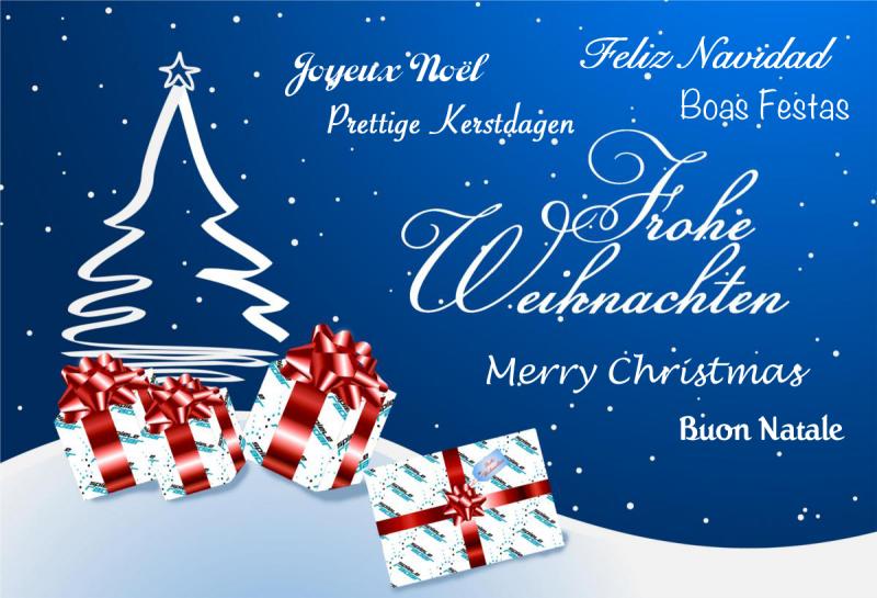 frohe Weihnachten sieben unterschiedliche Sprachen