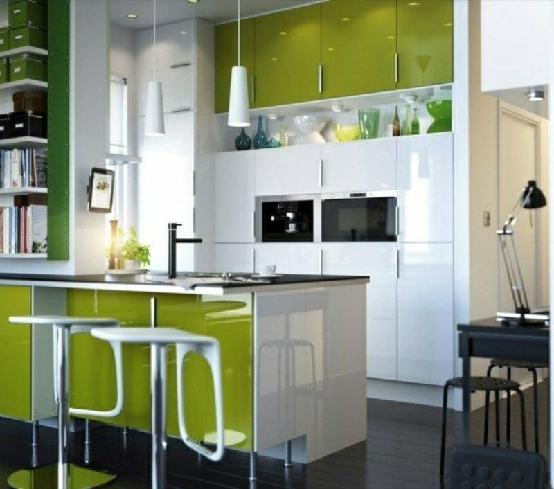 Modulküche im Grün moderner Look