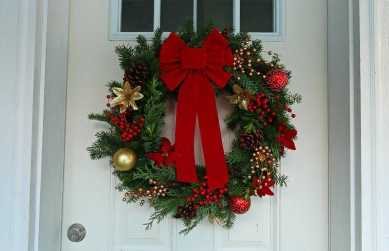 Weihnachtskarnz Eingangstür herrlicher Look