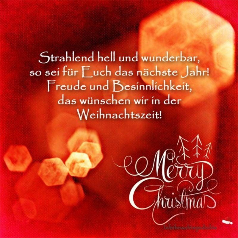 weihnachtliche Sprüche in Versen