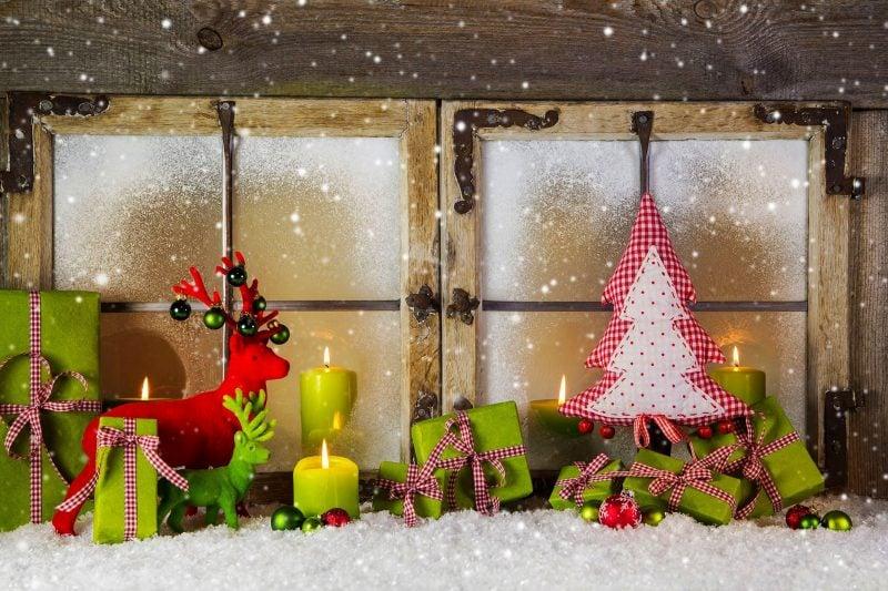 Malvorlagen für Weihnachten als Fensterbilder