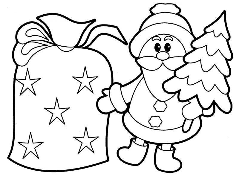Malvorlagen für Weihnachten Weihanchtsmann