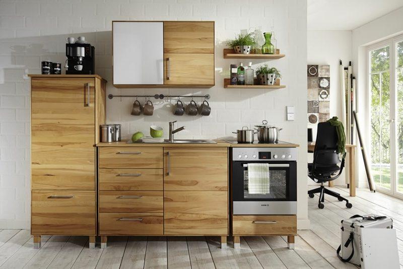 Modulküche Holz Landhaus Stil
