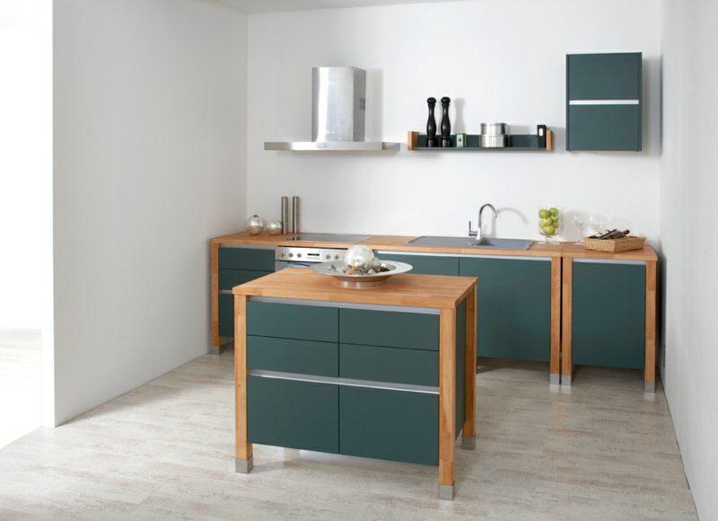 Modulküche aus Holz moderner Look