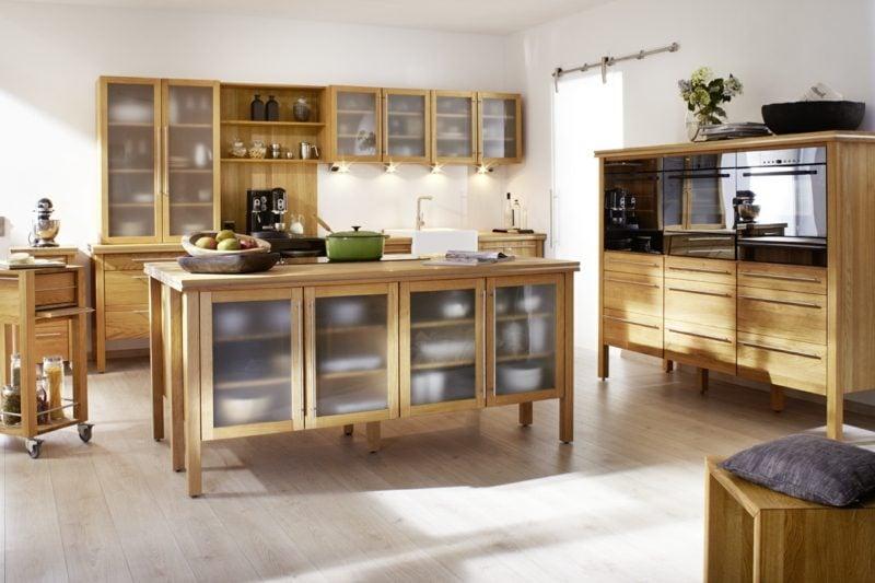 Modulküche aus Massivholz Landhaus Stil