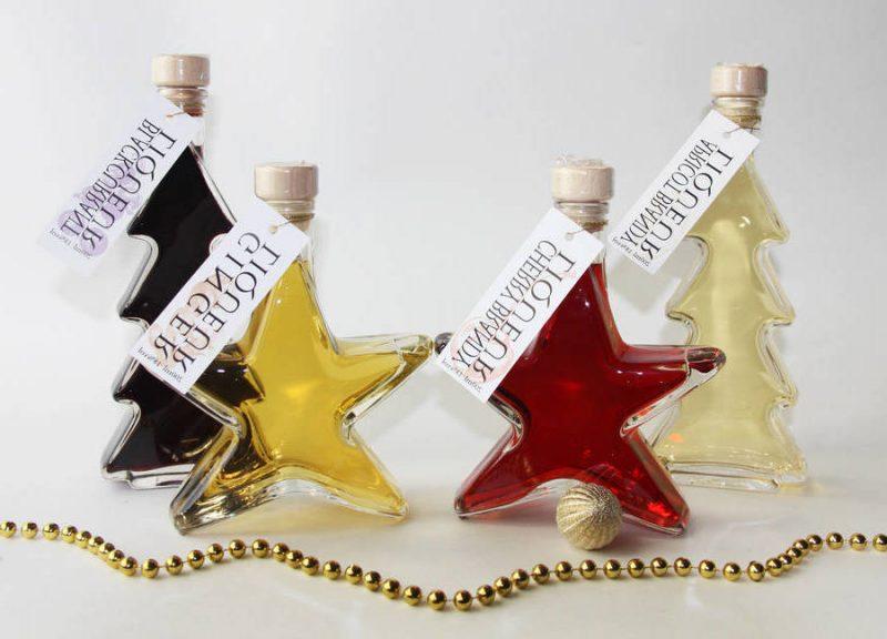 Nikolausgeschenk für Freund Weihnachtslikör originelle Flaschen