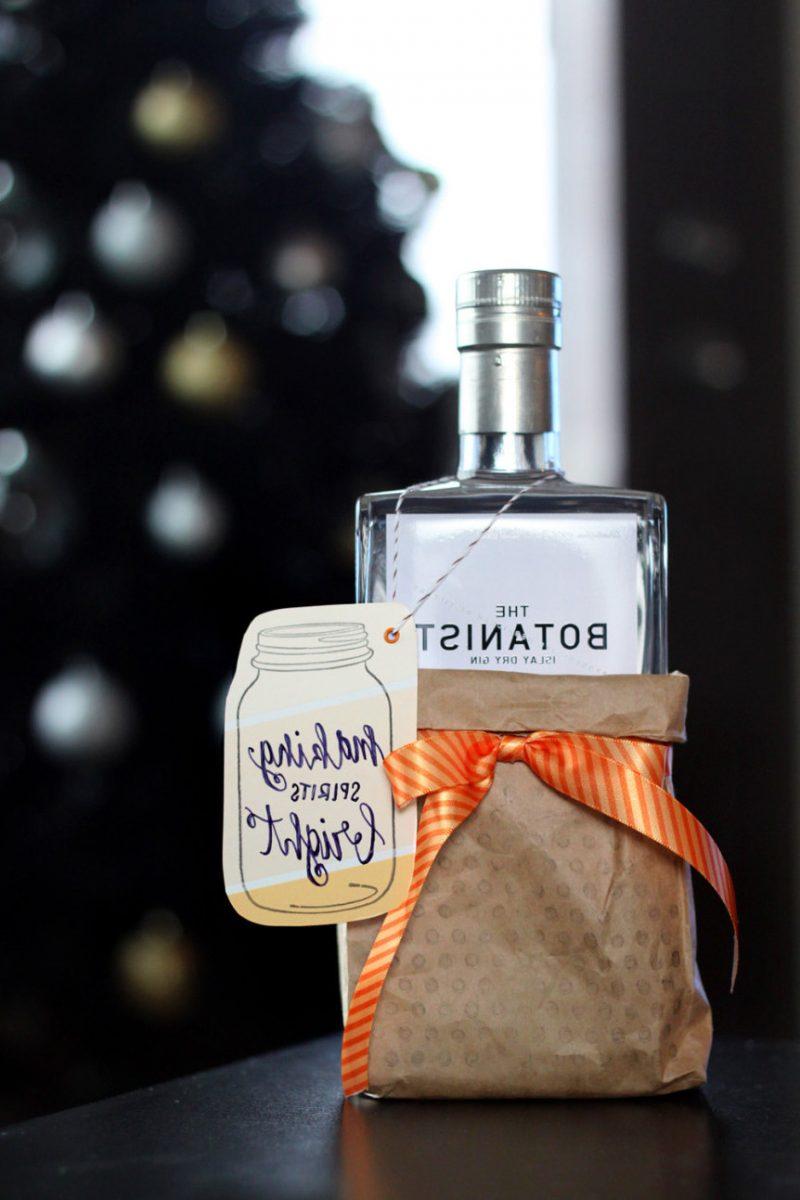 Nikolausgeschenk für Freund Weihnachtslikör Verpackung DIY Idee