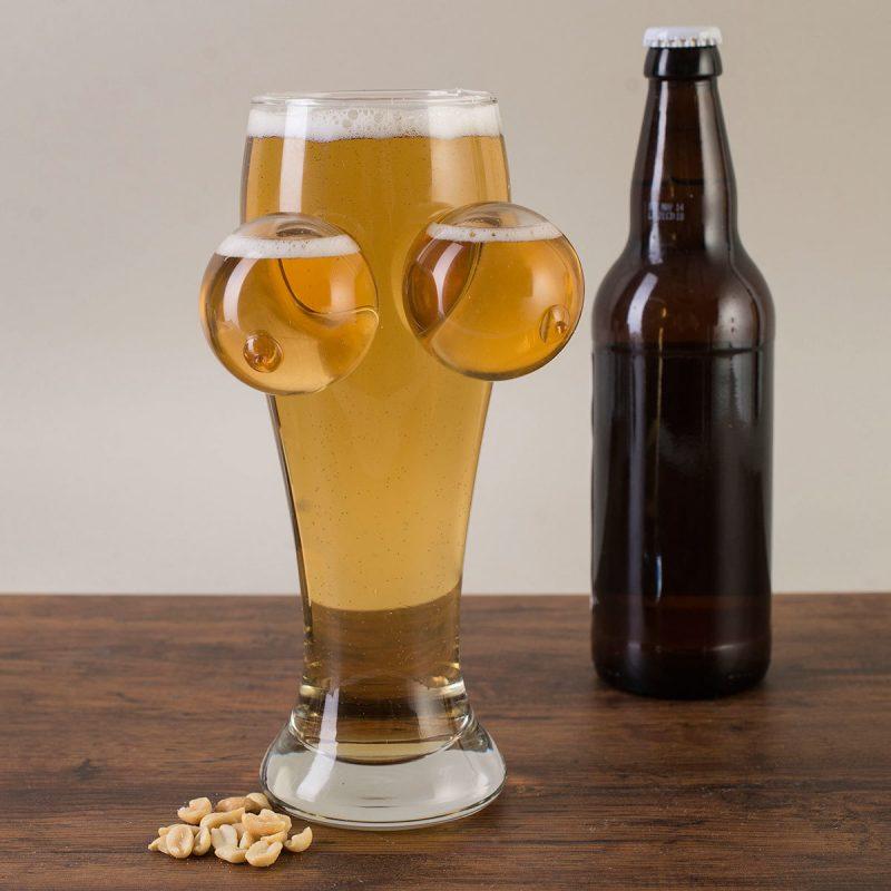 Nikolausgeschenke für Männer - lustige Bierglas