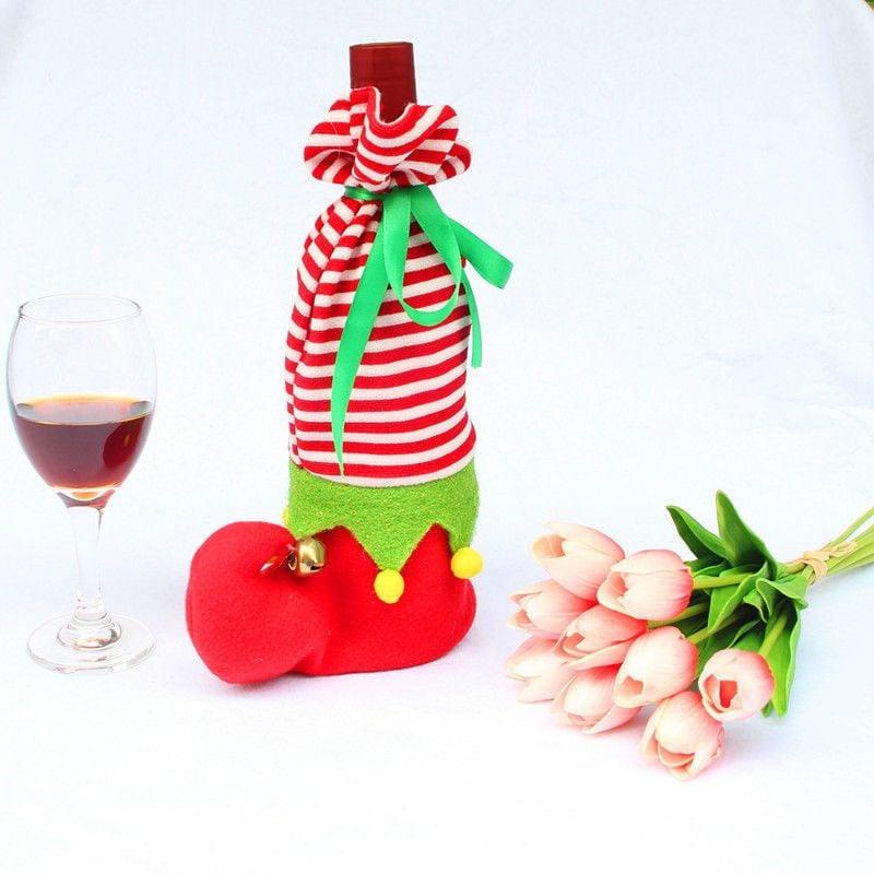 Nikolausgeschenke - Flasche Wein in Stiefel