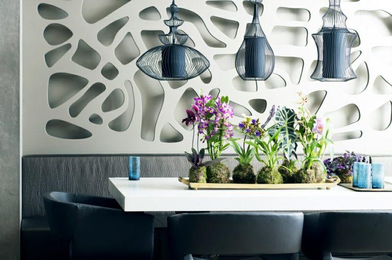 orchideenarten tisch deko