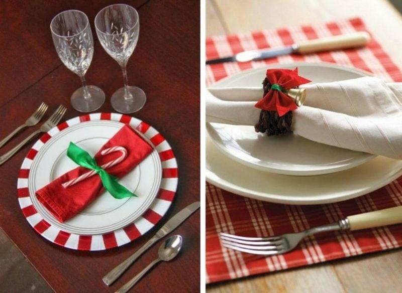Servietten falten zu Weihnachten Ideen und Inspirationen