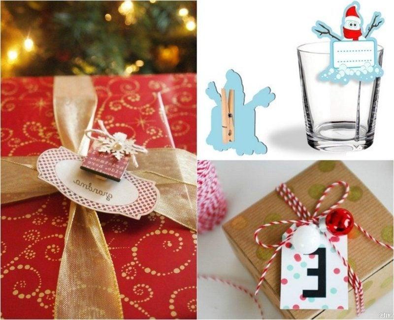 DIY Ideen Weihnachten originelle Etiketten machen