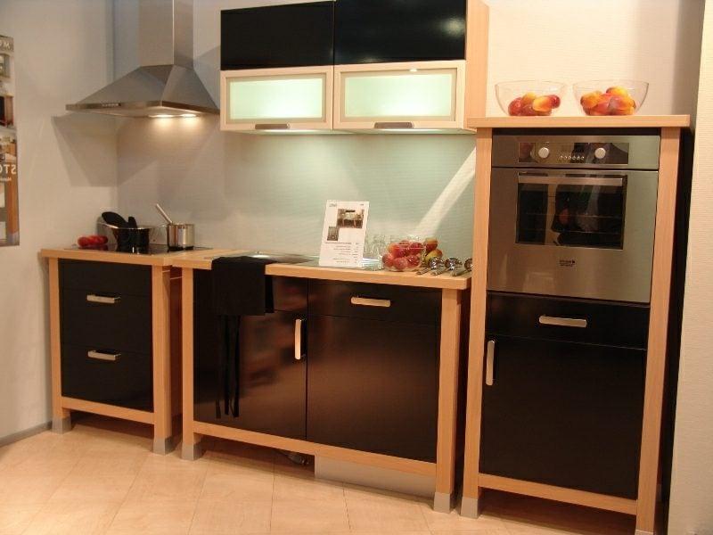 elegante modulare Küche Schwarz