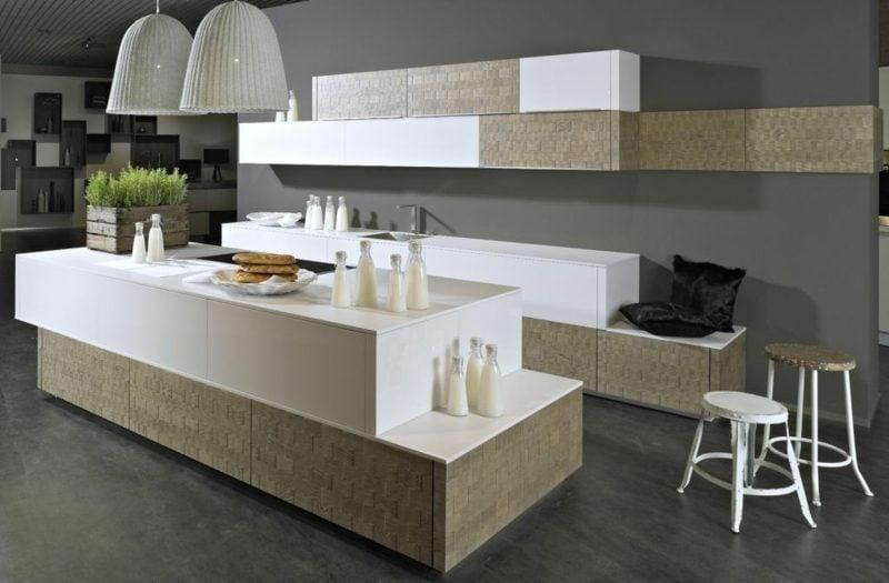 Modulküche origineller Look geometrische Formen