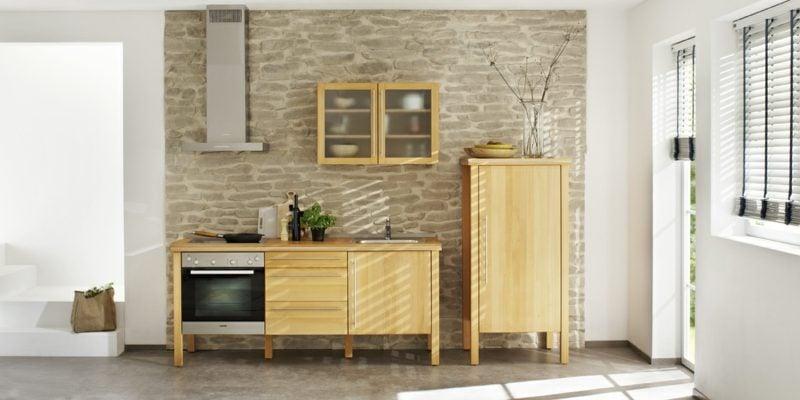 Modulküche aus Massivholz praktisches Design