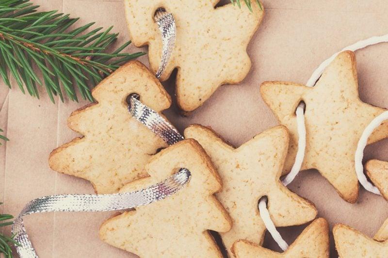 Salzteig Weihnachten Girlande selber machen