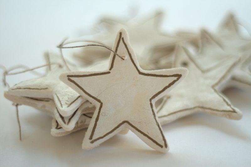 Salzteig Weihnachten Sterne basteln