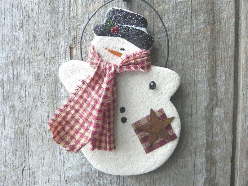 Salzteig Weihnachten Weihnachtsmann basteln