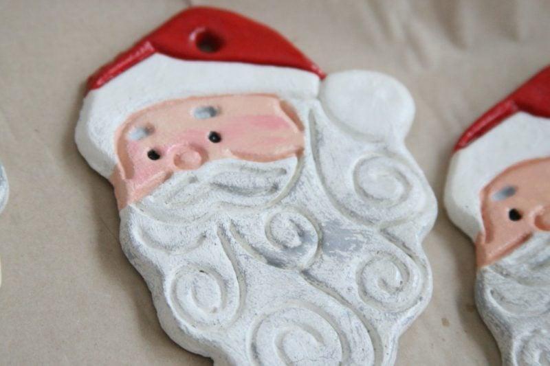 Salzteig Weihnachten Weihnachtsmann Schmuck basteln