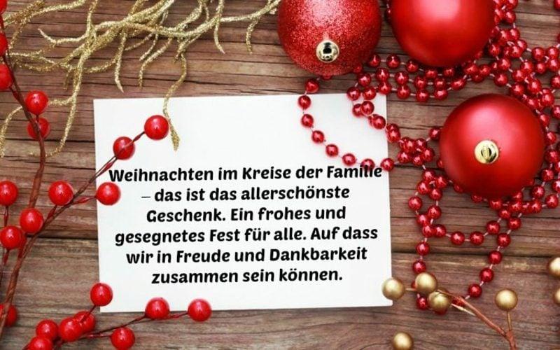 weihnachtliche Sprüche Familie
