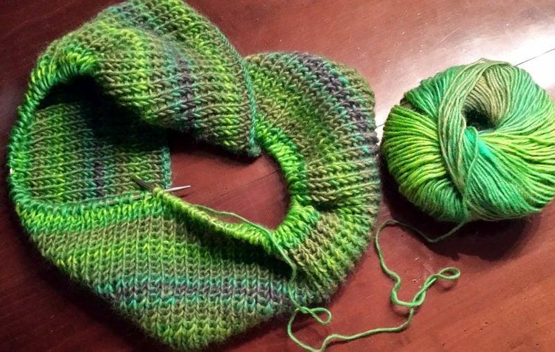 Geschenke für Männer zu Weihnachten Schal selber gestrickt