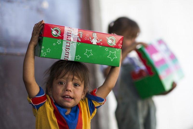 Weihnachten im Schuhkarton für hilfsbedürftige Kinder