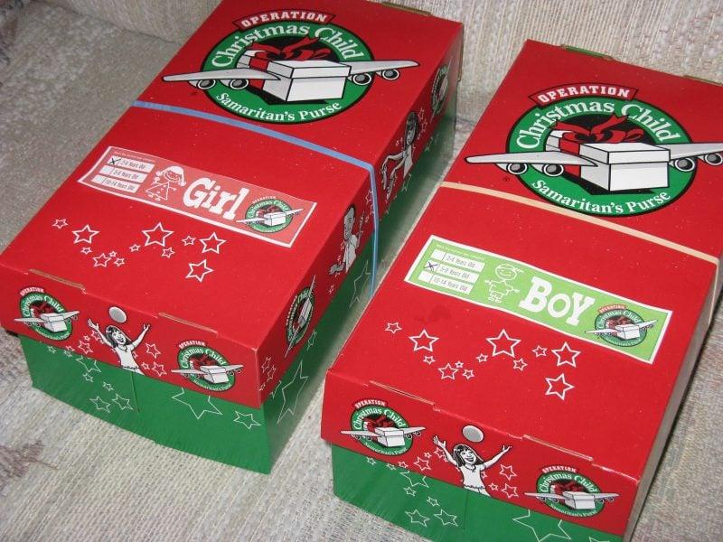 Weihnachten im Schuhkarton USA Aktion