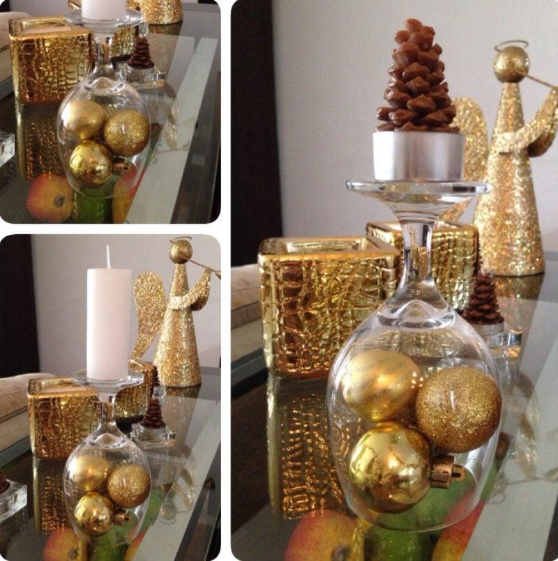 Tisch weihnachtlich dekorieren - Glas Kerzen
