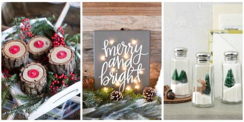 Tisch weihnachtlich dekorieren - Bastelideen