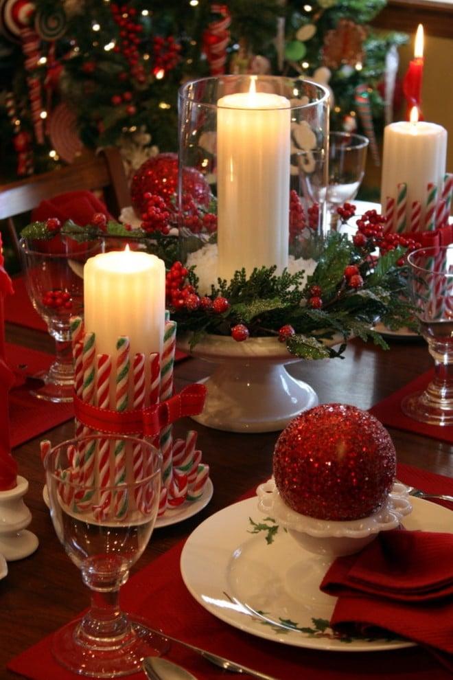 Tisch weihnachtlich dekorieren mit diesen Farben