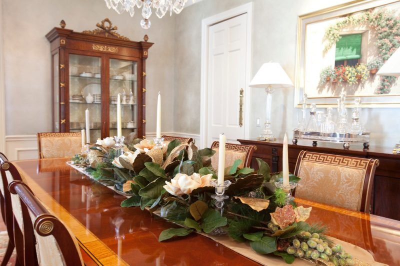 Tisch weihnachtlich dekorieren Mediterrane Deko