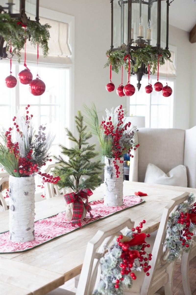 Tisch weihnachtlich dekorieren 41 deko ideen f r weihnachtstafel deko feiern - Zinkwanne weihnachtlich dekorieren ...