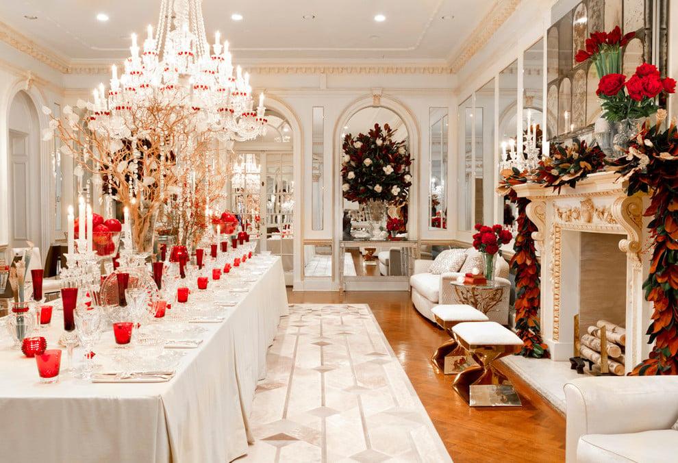 tisch weihnachtlich dekorieren 41 deko ideen f r. Black Bedroom Furniture Sets. Home Design Ideas