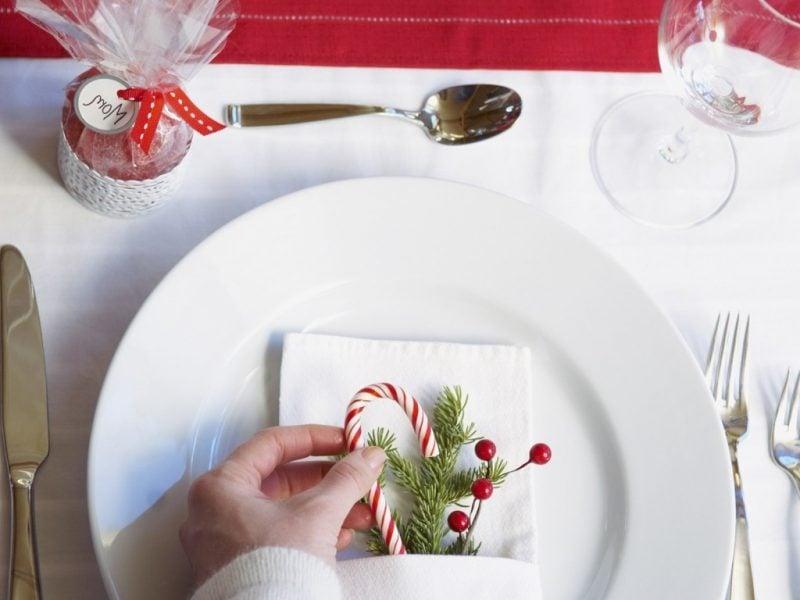 Teller weihnachtlich dekorieren
