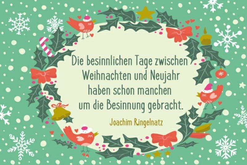 originelle weihnachtliche Sprüche Joachim Ringelnatz