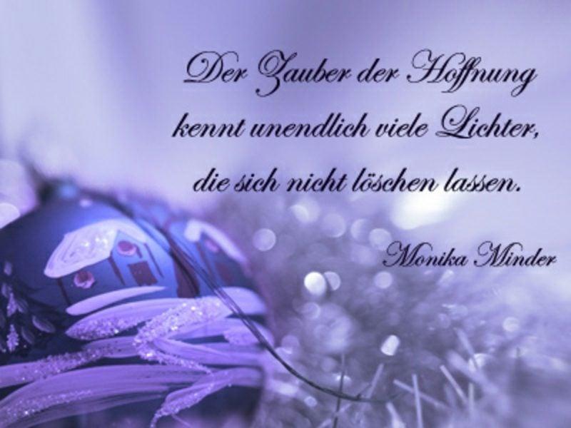 interessante weihnachtliche Sprüche Monika Minder