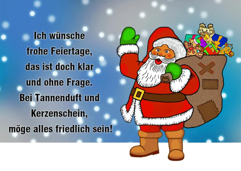 weihnachtliche Sprüche lustig