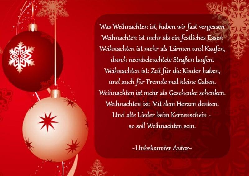 weihnachtliche Sprüche vom unbekannten Autor Ideen und Inspirationen