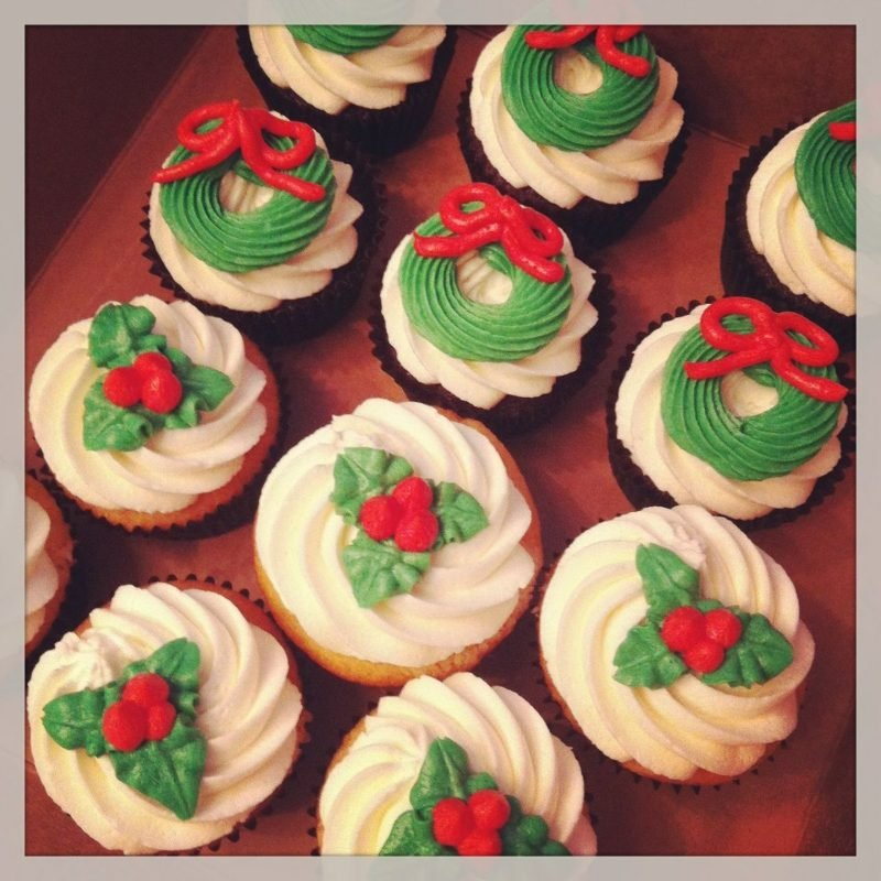 weihnachts christmas cupcakes
