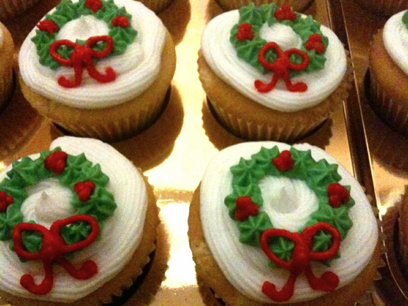 weihnachts large cupcakes