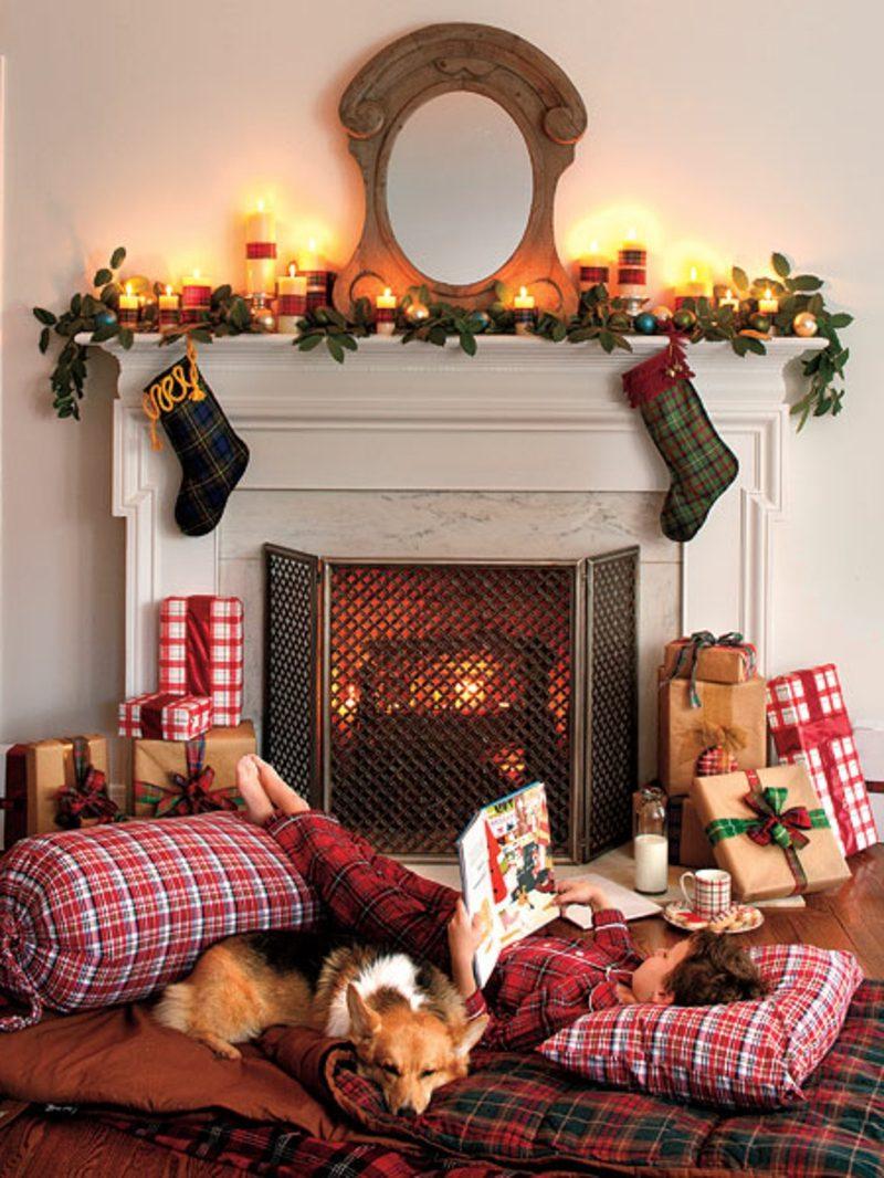 Weihnachtsgrüße kids fireside