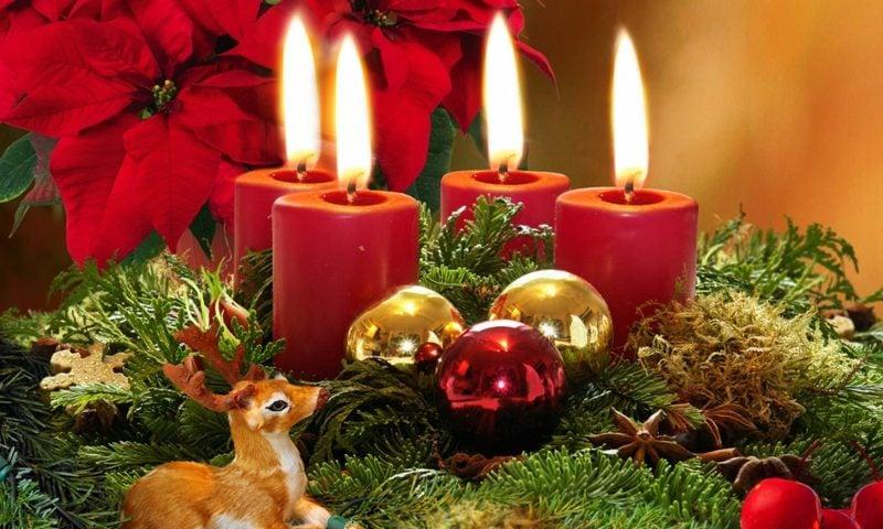 Zitate für Weihnachten Adventskranz herrlicher Look